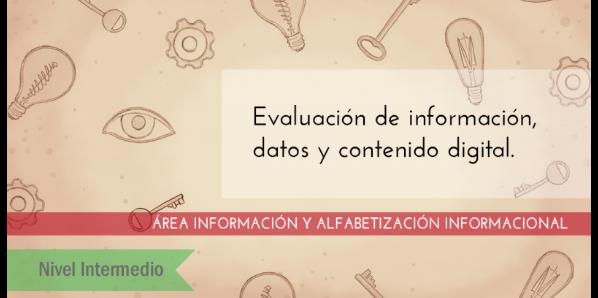 FDCD. Información y Alfabetización informacional. Evaluación de información, datos y contenido digital. (Nivel medio) (3ª ed)
