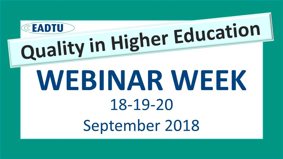 Webinar week Quality in Higher Education