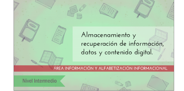 FDCD. Información y Alfabetización informacional. Almacenamiento y recuperación de información, datos y contenido digital. (Nivel INTERMEDIO ) (2020)